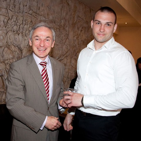 Tadas Dobrovolskis from Data Networking (CISCO) who is ITB bound pictured here with Minister Bruton