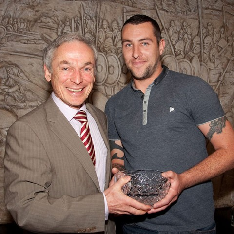 Darryl Kinsella Student of the Year 2014 from Security Systems pictured here with Minister Bruton