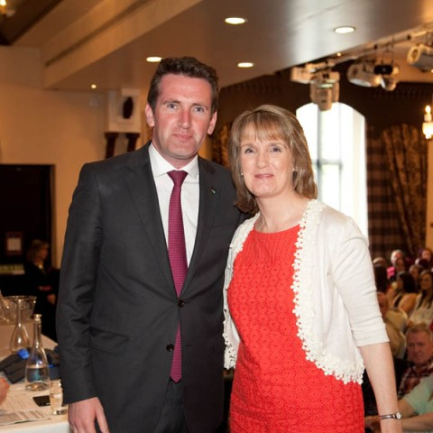 Minister Aodhán Ó Ríordáin and Ms. Attracta Boyle from Computerised Office Skills now happily working in Administration!