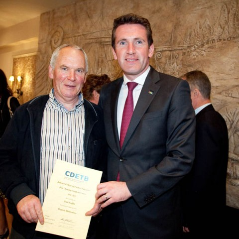 Mr Sean Griffin from Property with Minister Aodhán Ó Ríordáin.